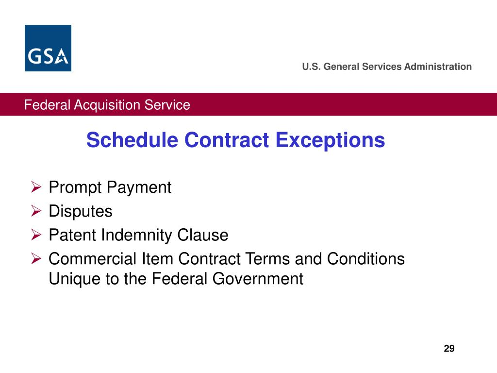 Schedule Contract Exceptions