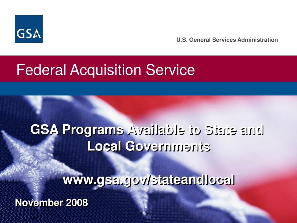 GSA Programs Available to State and