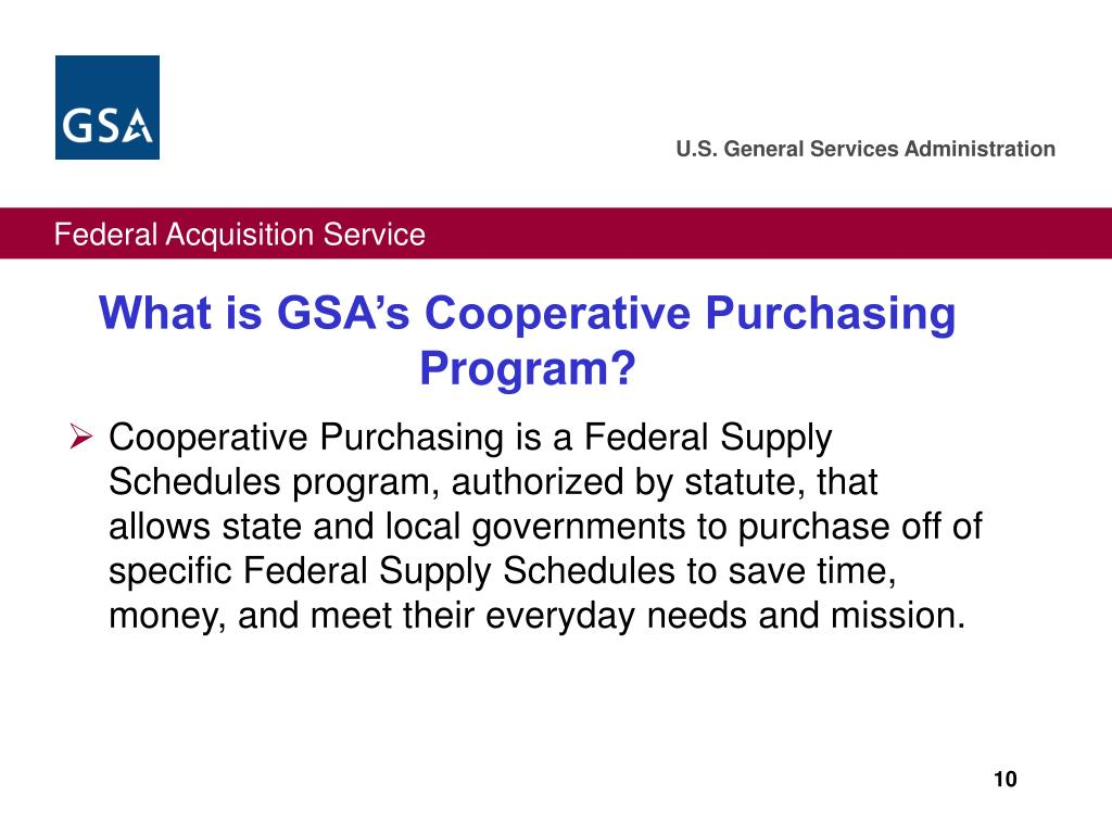 What is GSA's Cooperative Purchasing Program?
