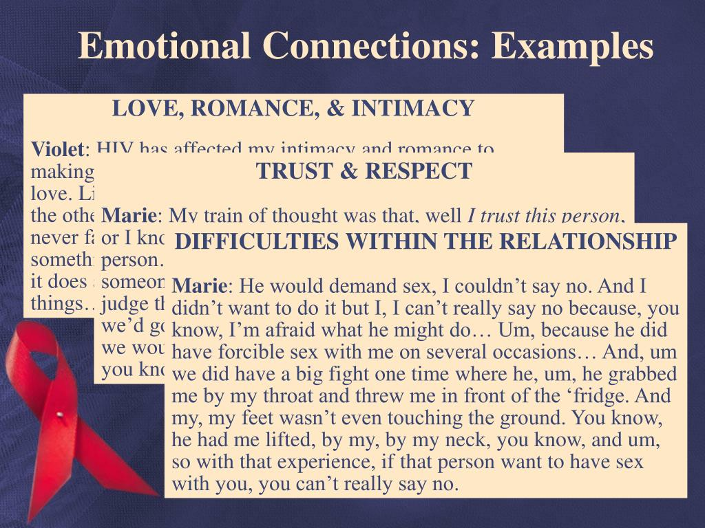 Emotional Connections: Examples