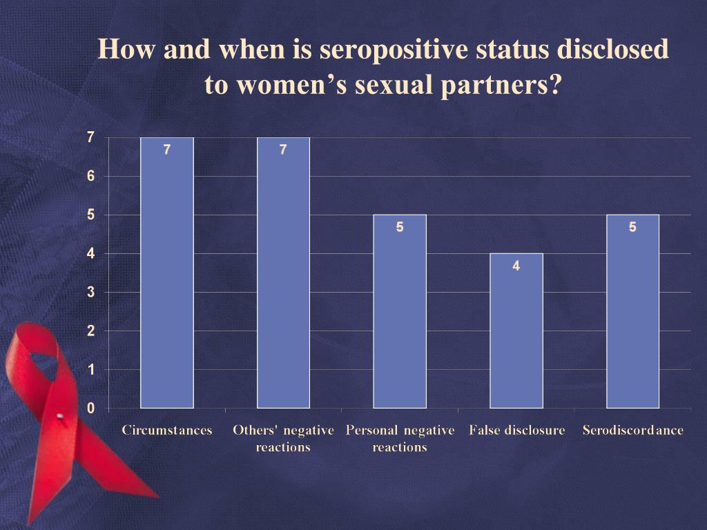 How and when is seropositive status disclosed