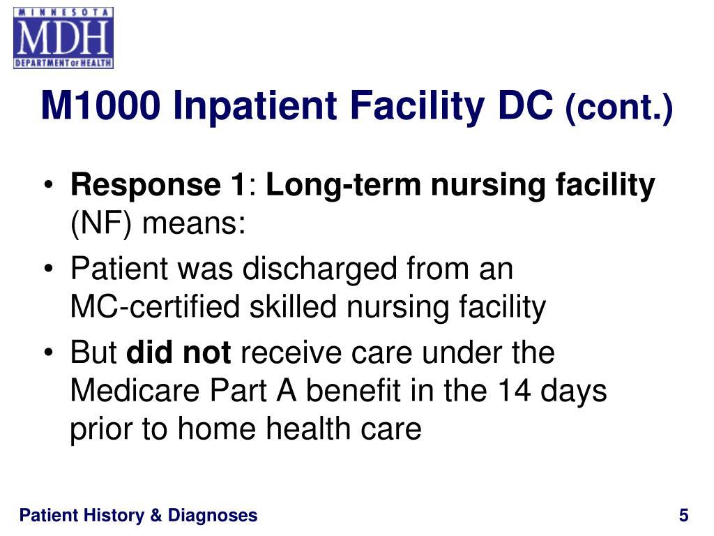 M1000 Inpatient Facility DC