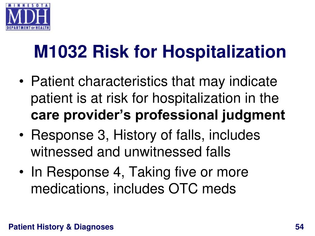 M1032 Risk for Hospitalization