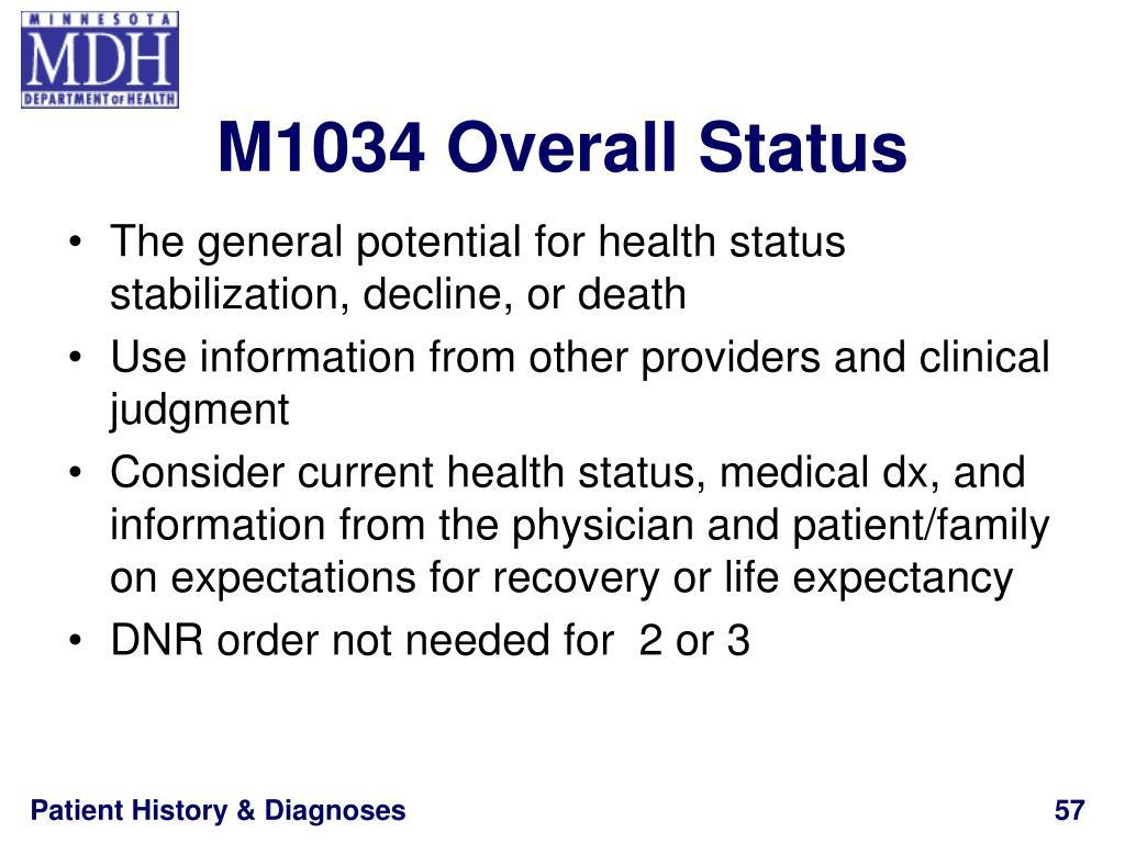M1034 Overall Status