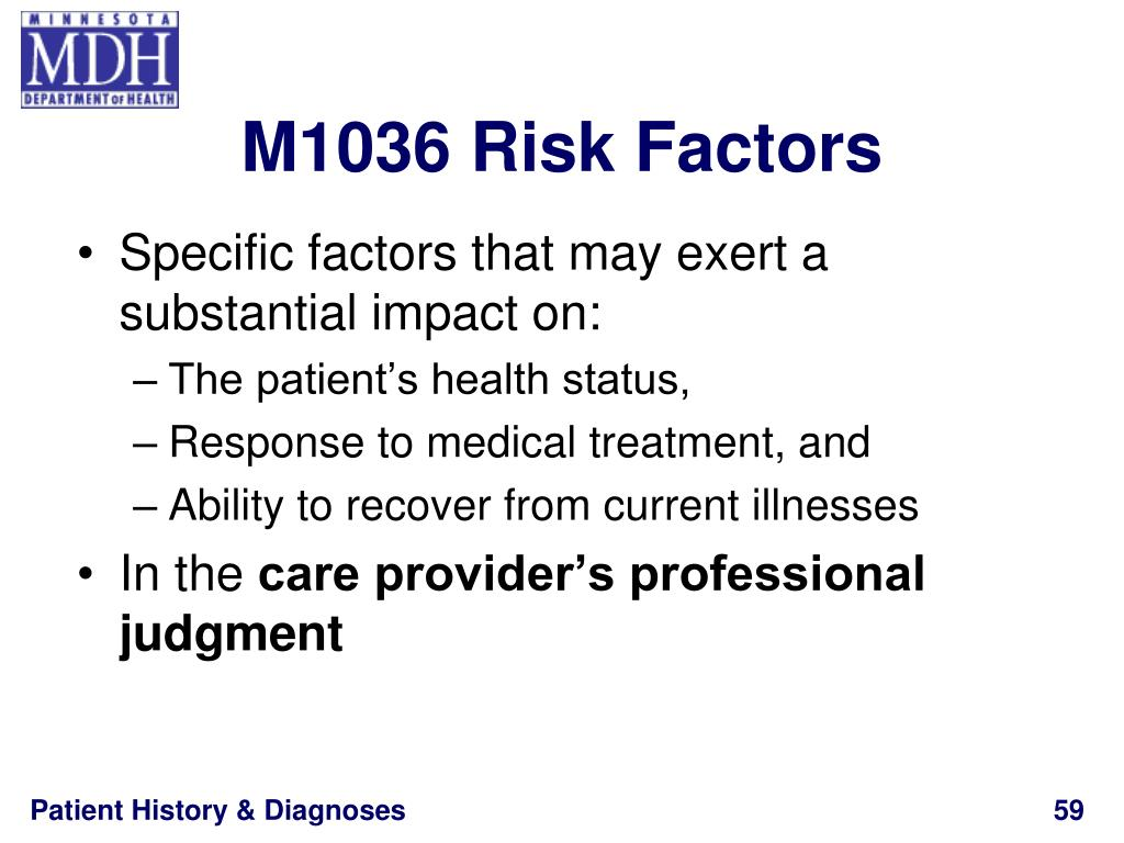 M1036 Risk Factors