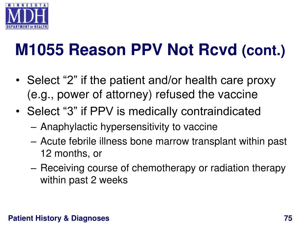 M1055 Reason PPV Not Rcvd