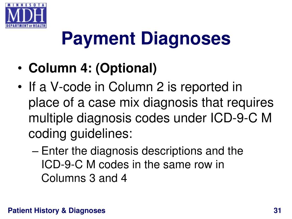 Payment Diagnoses