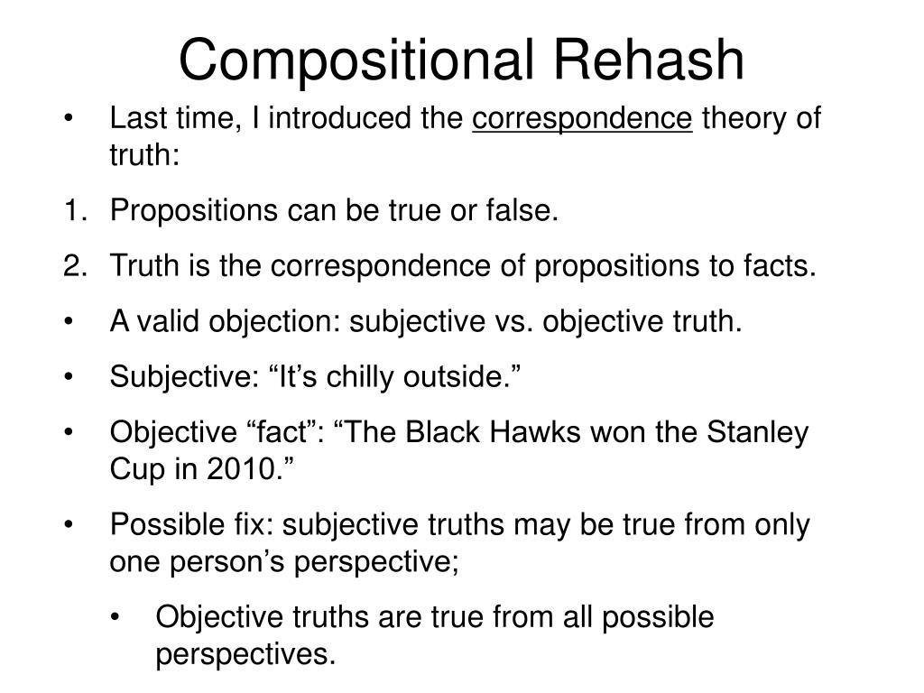Compositional Rehash