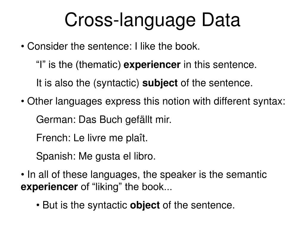 Cross-language Data