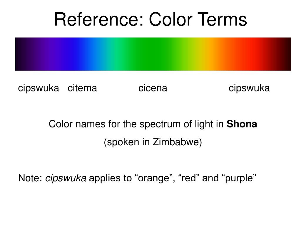 Reference: Color Terms