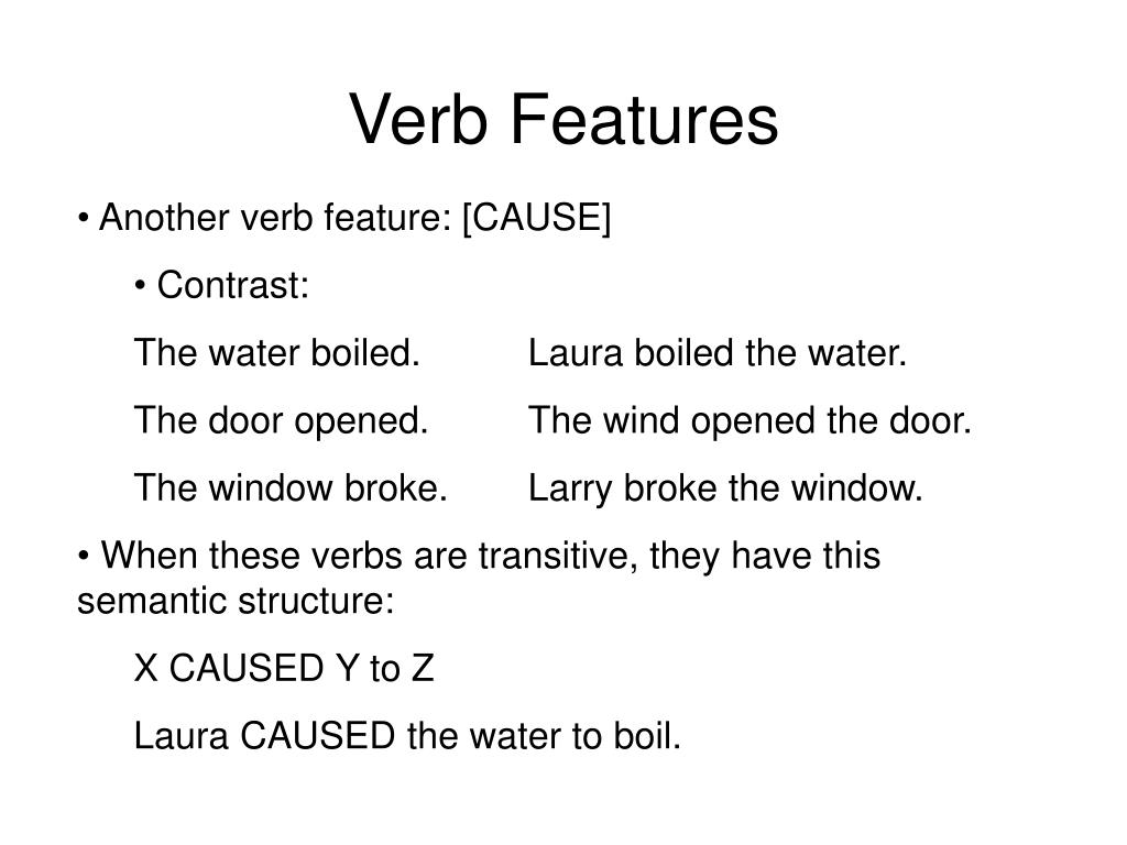 Verb Features