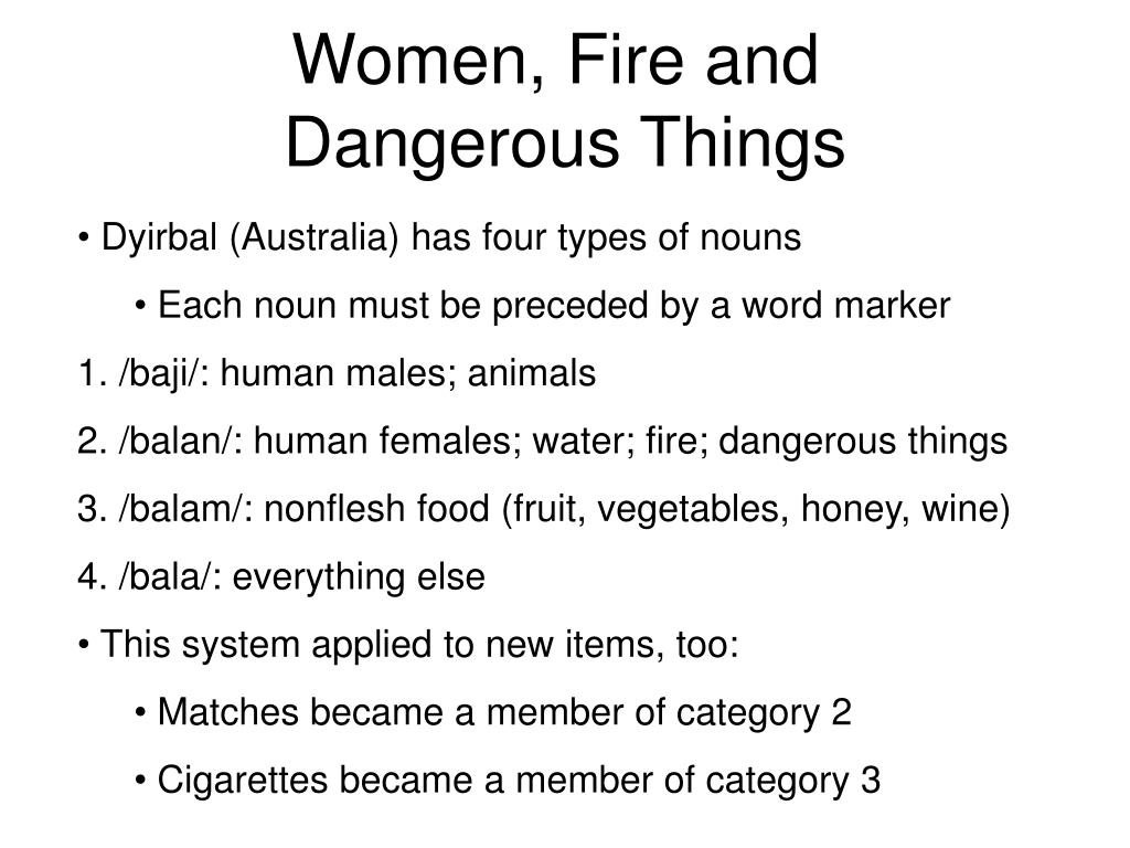 Women, Fire and