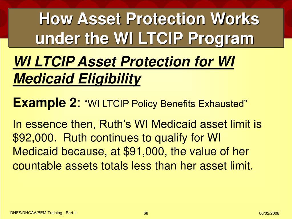 How Asset Protection Works under the WI LTCIP Program