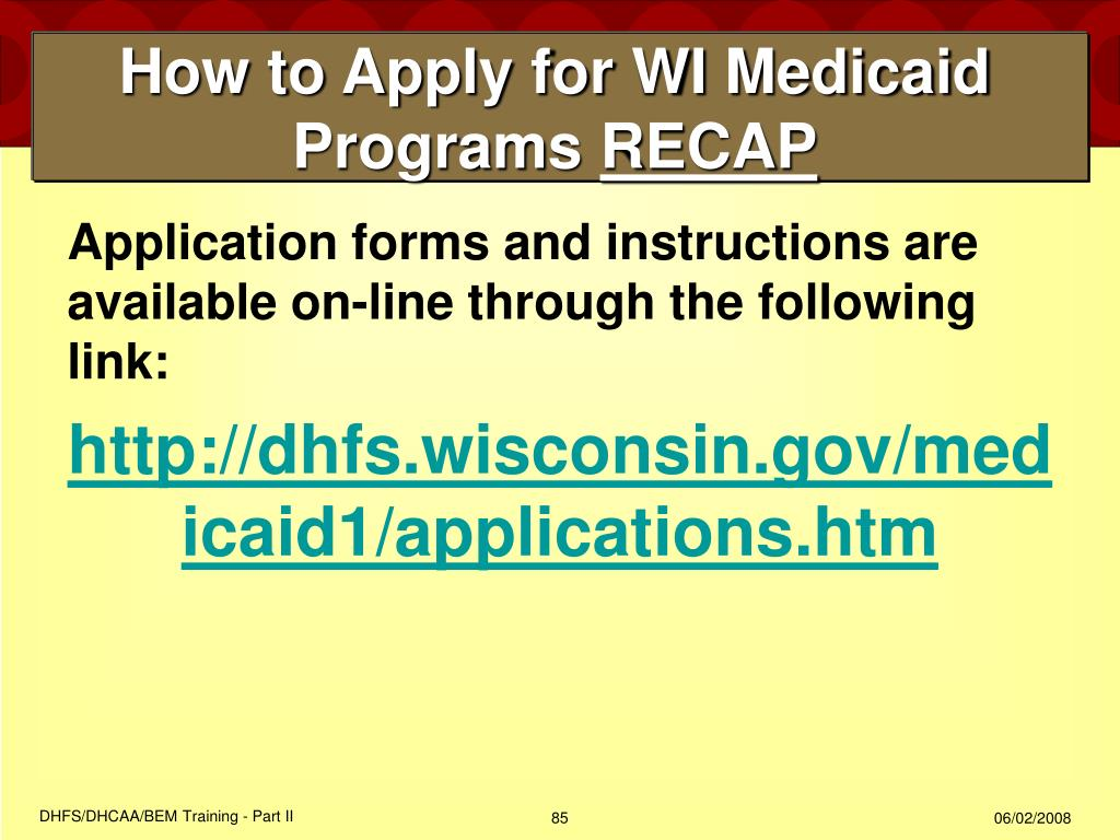 How to Apply for WI Medicaid Programs
