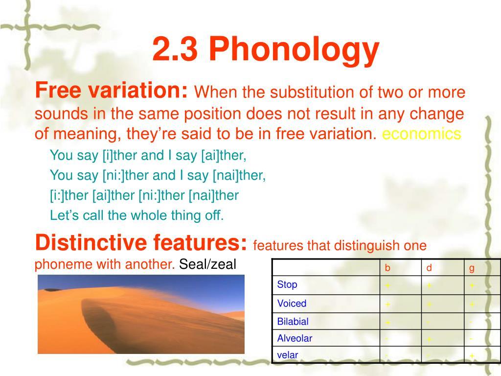 2.3 Phonology