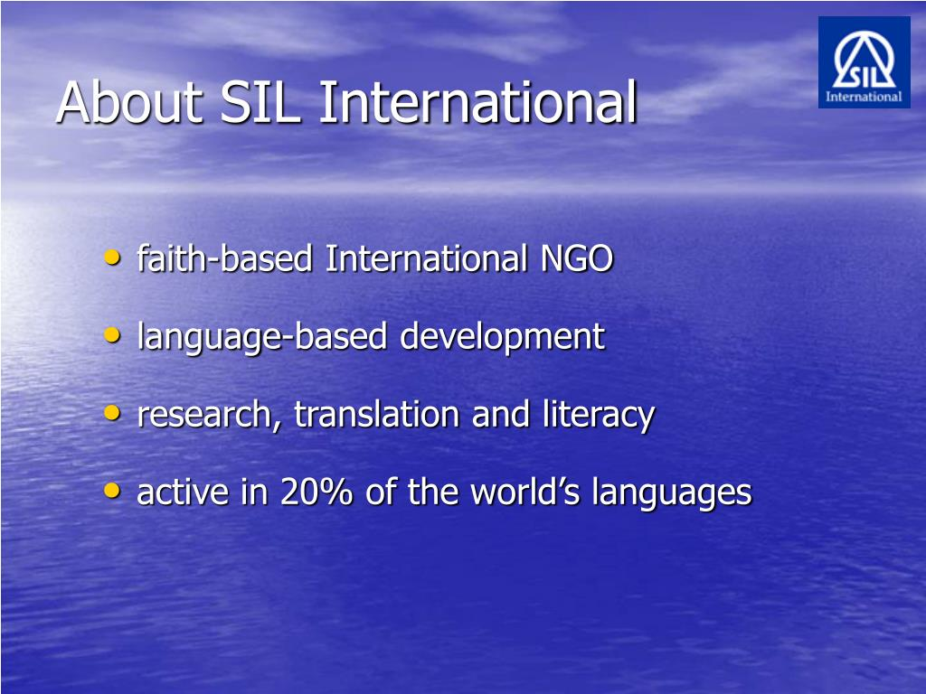 About SIL International
