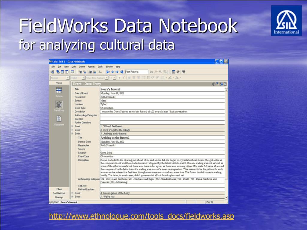 FieldWorks Data Notebook