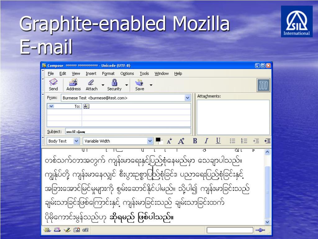 Graphite-enabled Mozilla