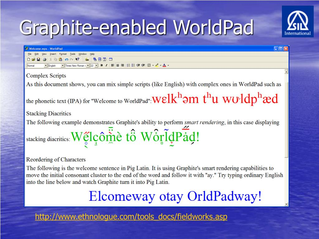 Graphite-enabled WorldPad