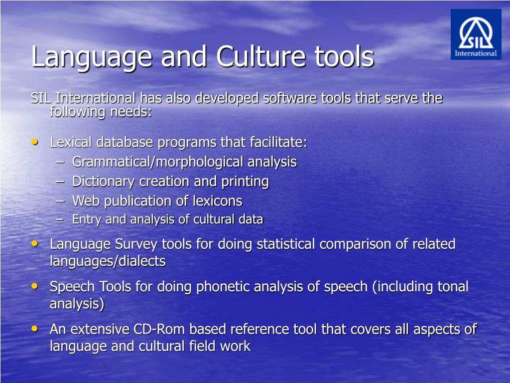 Language and Culture tools