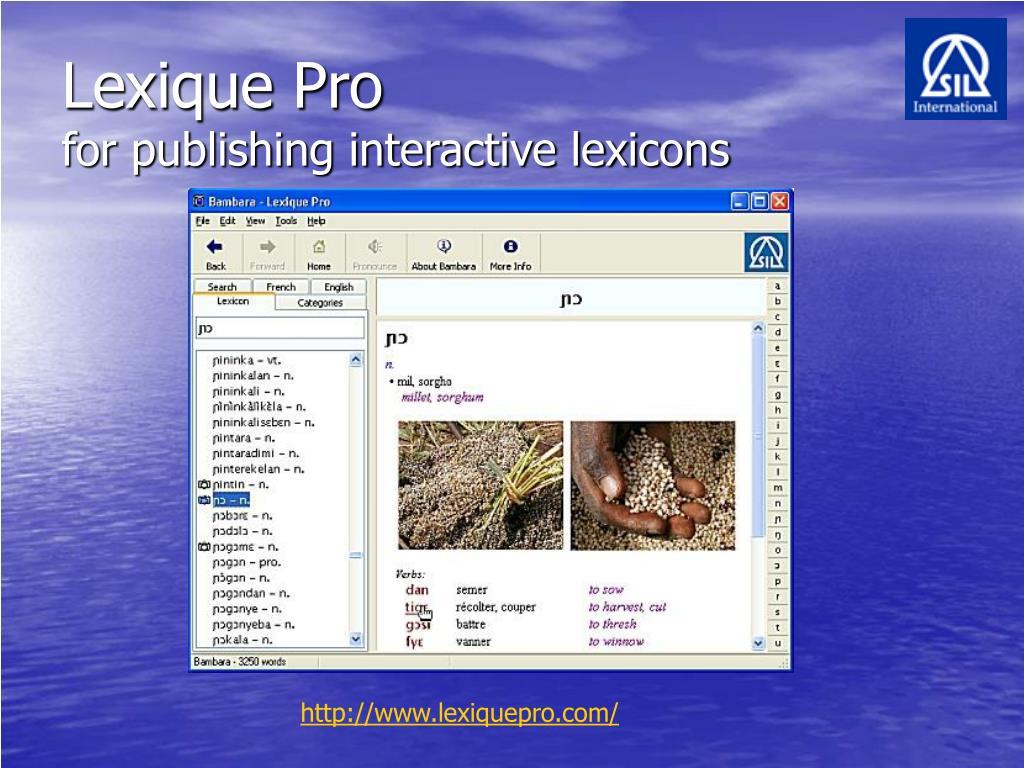 Lexique Pro