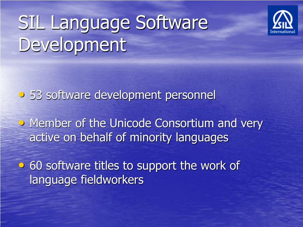 SIL Language Software Development