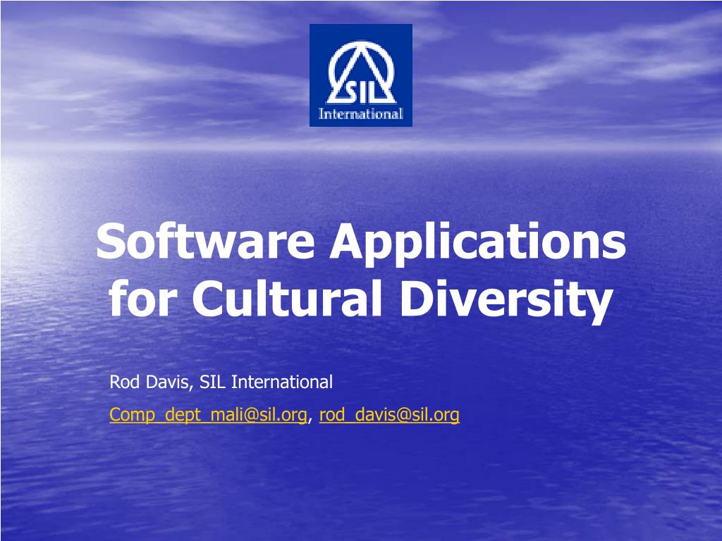 Software Applications for Cultural Diversity