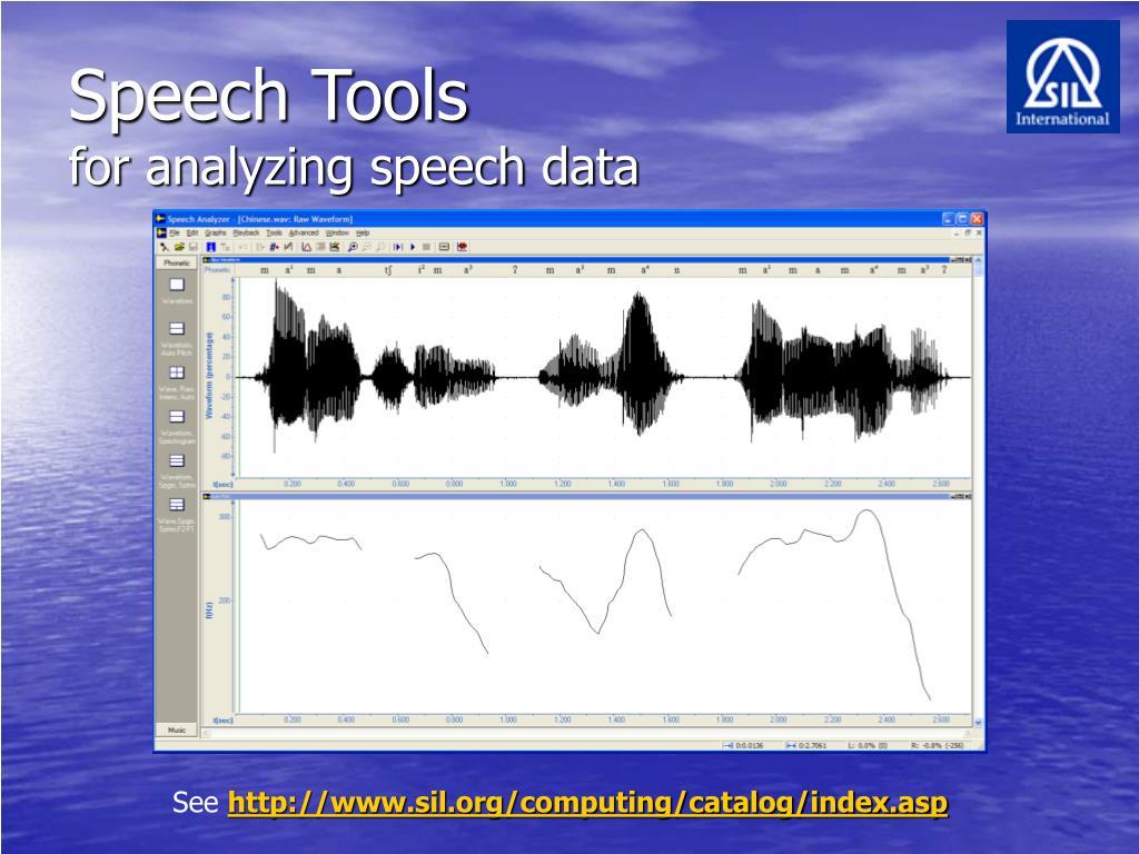 Speech Tools