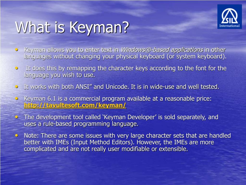 What is Keyman?