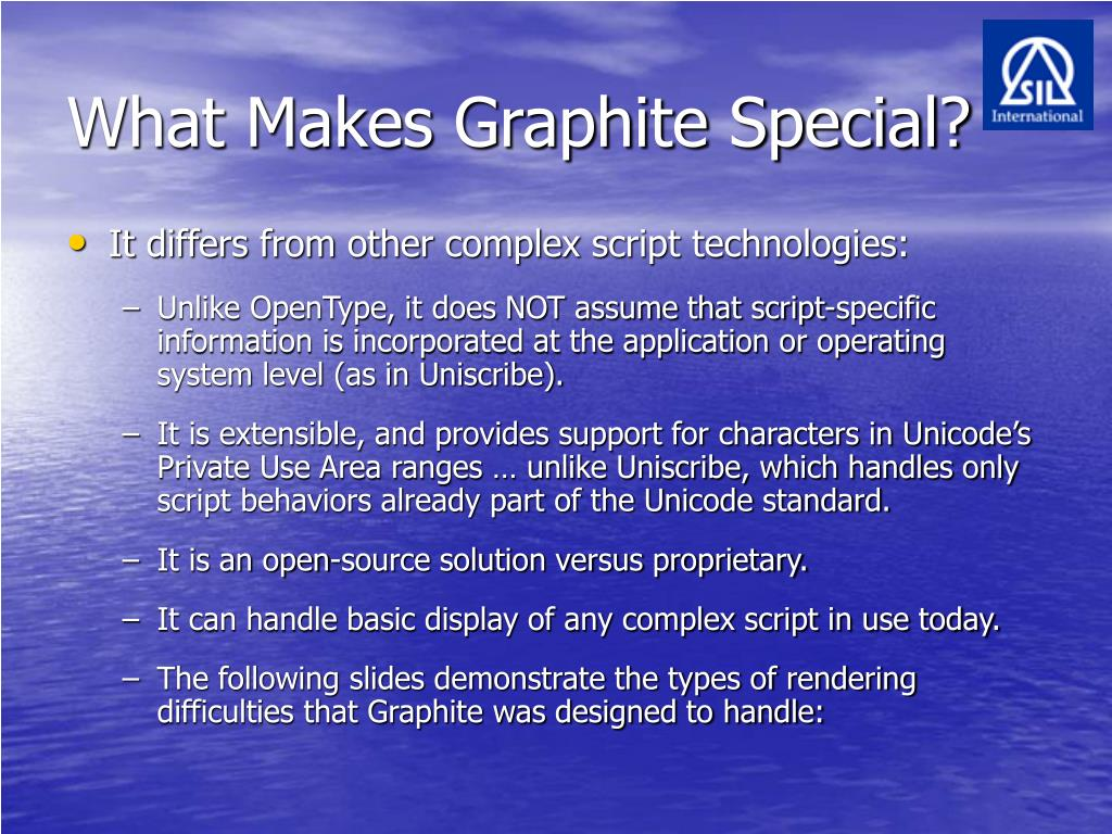 What Makes Graphite Special?