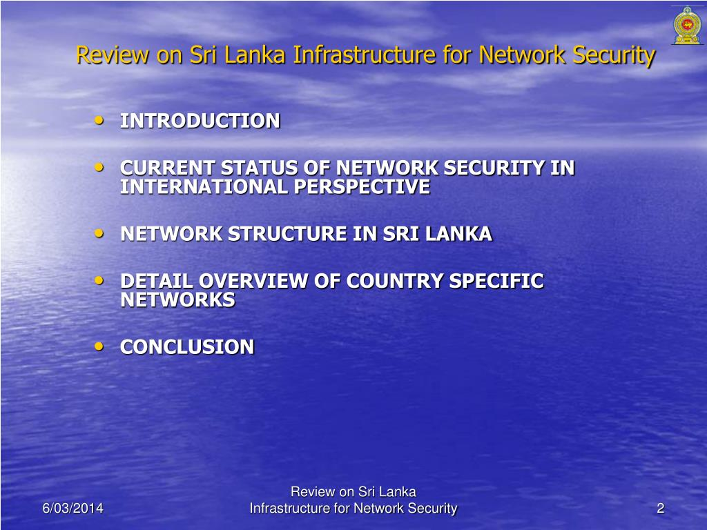 Review on Sri Lanka Infrastructure for Network Security