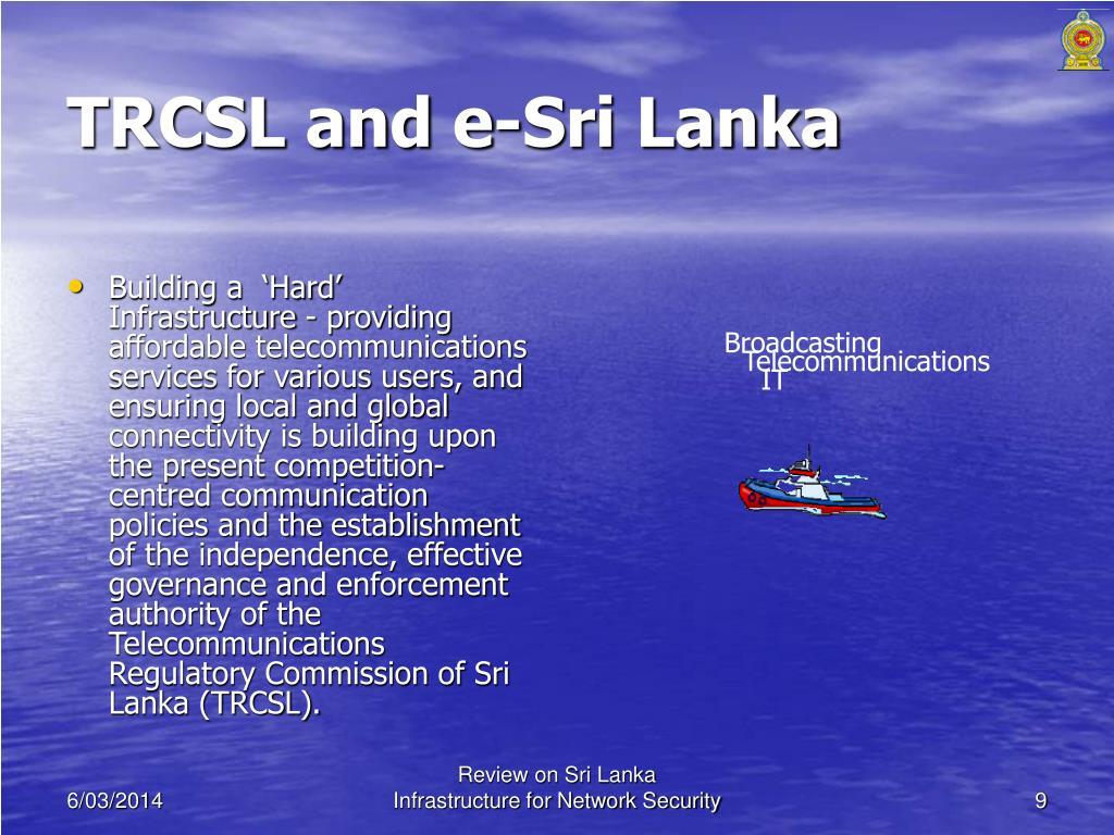 TRCSL and e-Sri Lanka