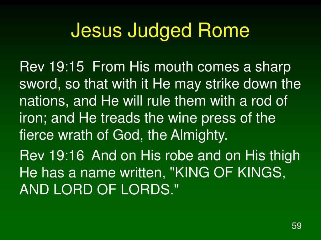 Jesus Judged Rome