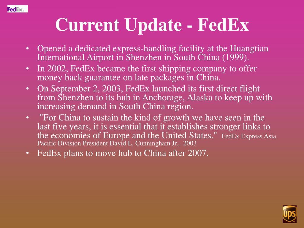 Current Update - FedEx