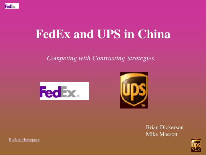 Fedex and ups in china