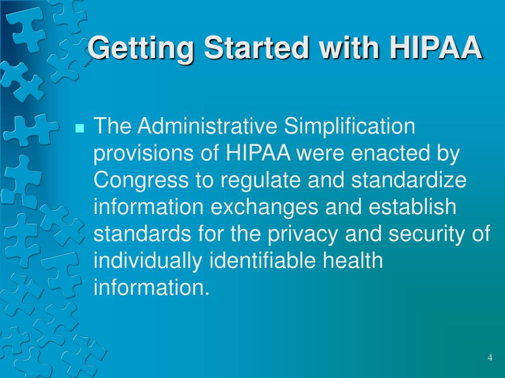 Getting Started with HIPAA