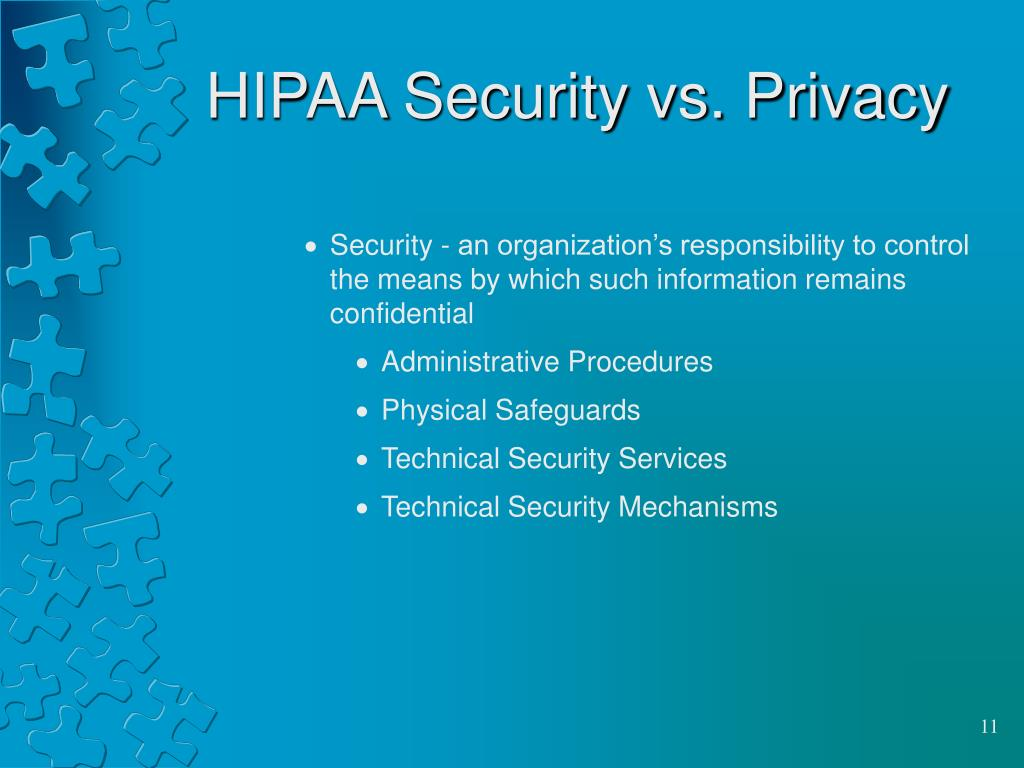 HIPAA Security vs. Privacy