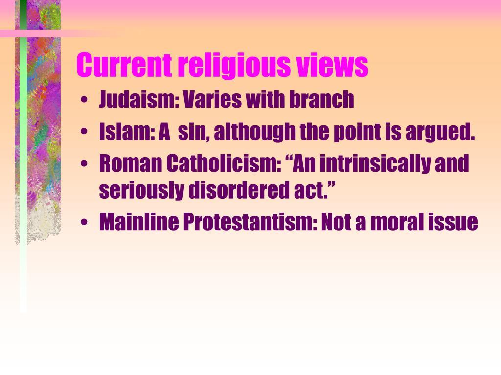Current religious views