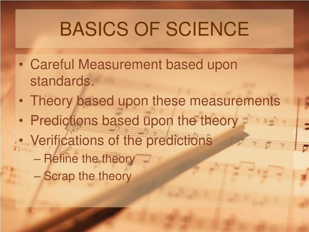 BASICS OF SCIENCE
