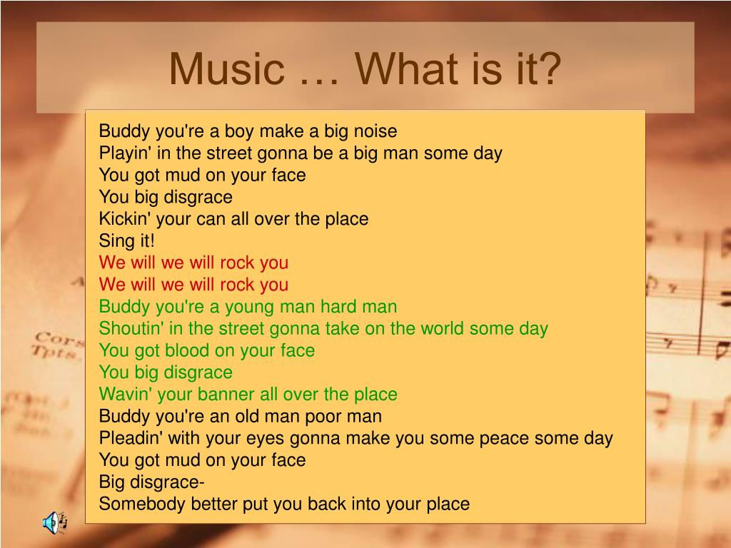 Music … What is it?