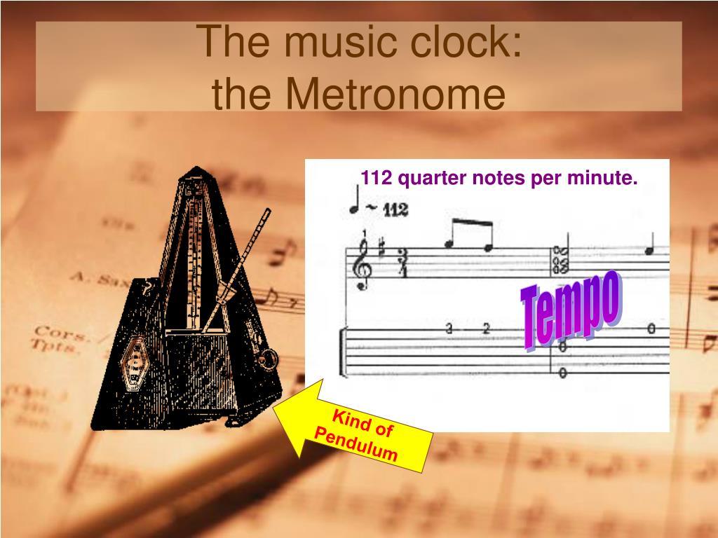 The music clock: