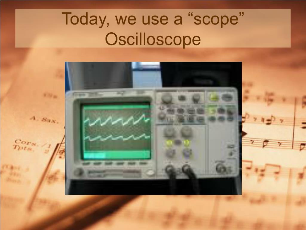 """Today, we use a """"scope"""""""