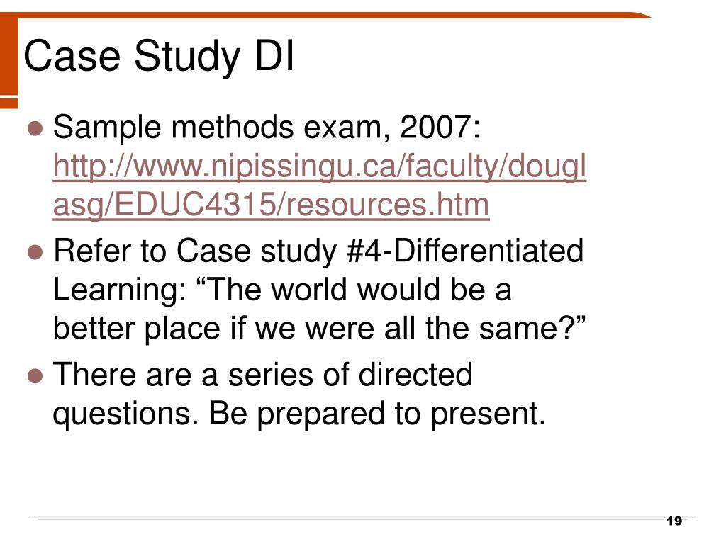 Case Study DI