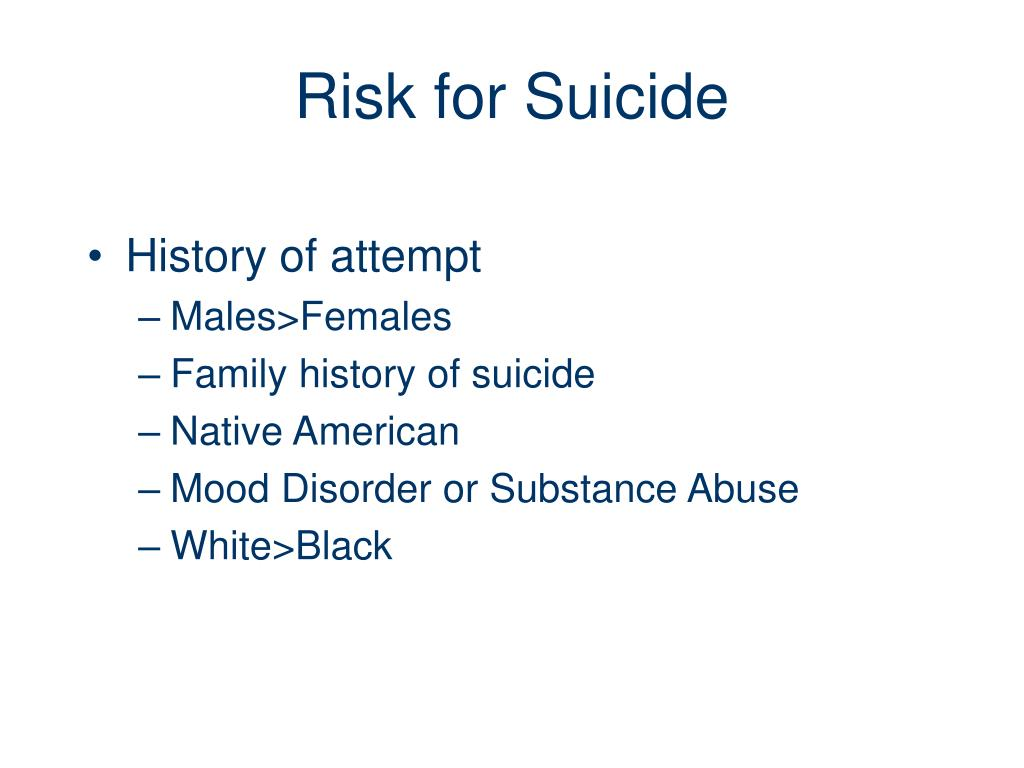 Risk for Suicide
