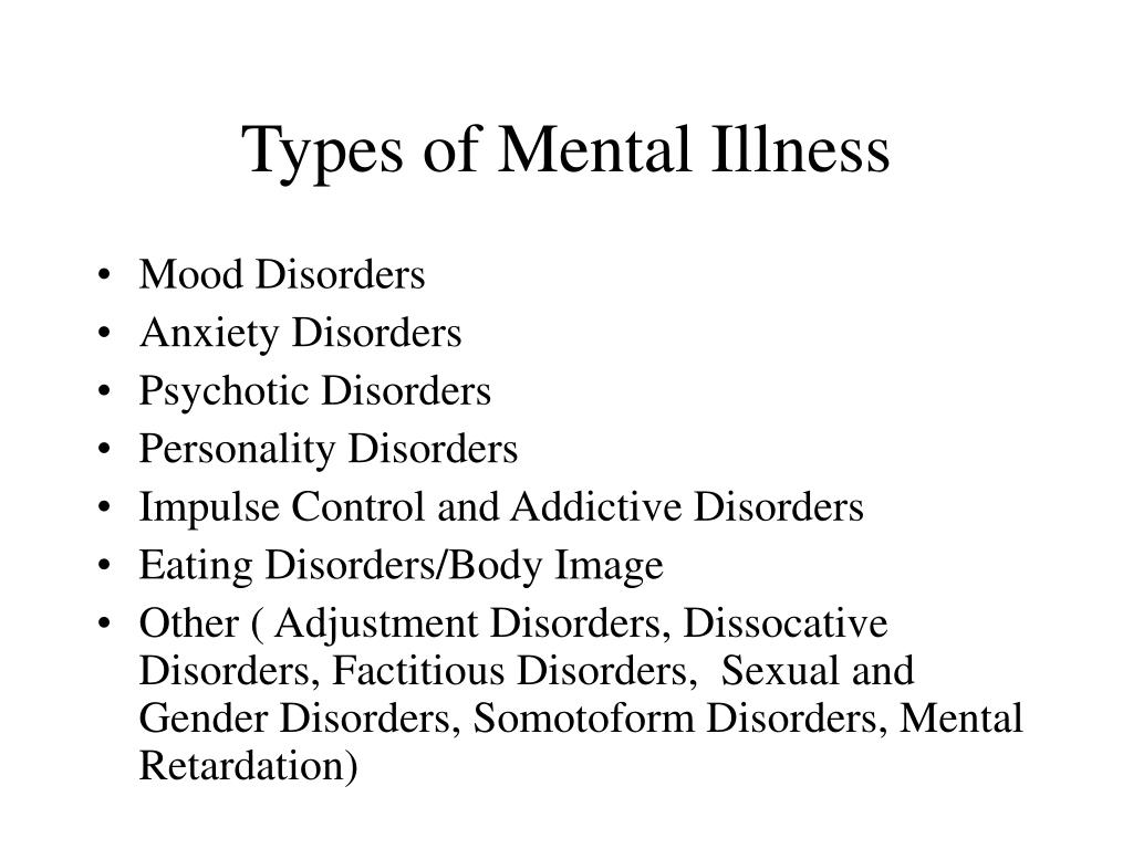 Types of Mental Illness
