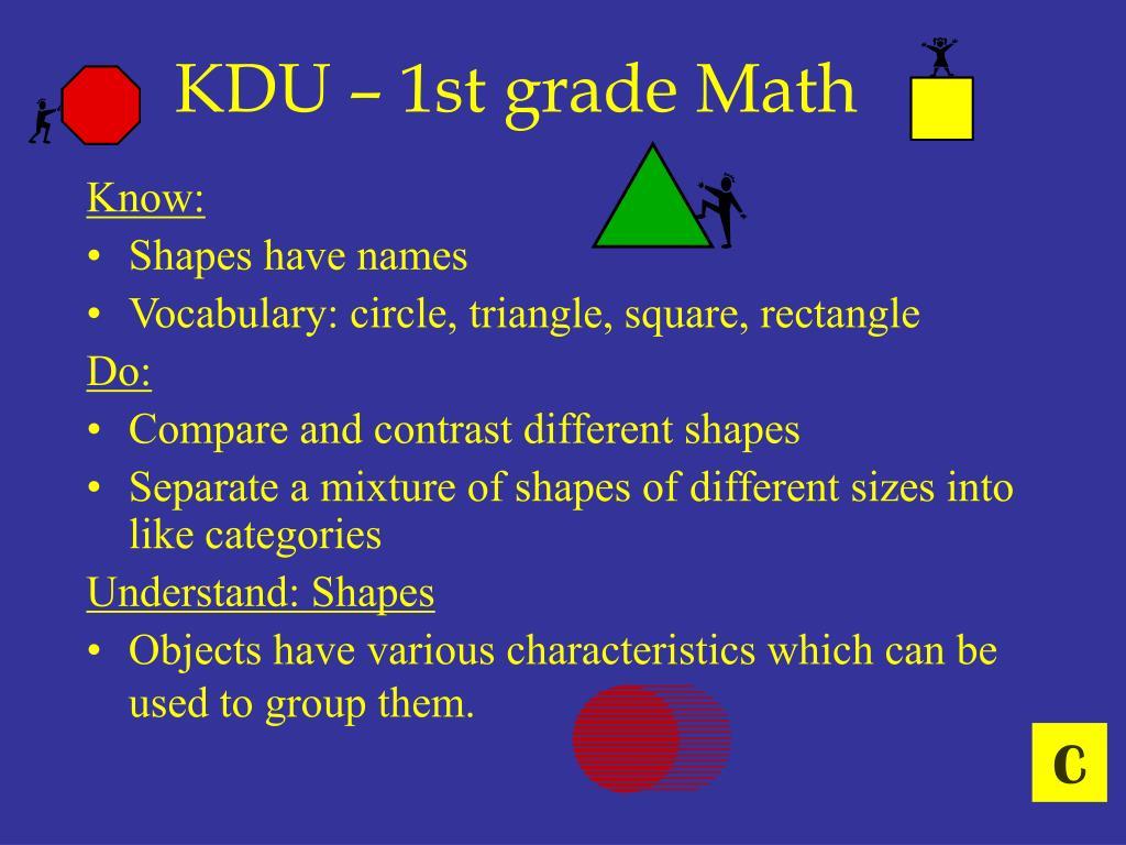 KDU – 1st grade Math
