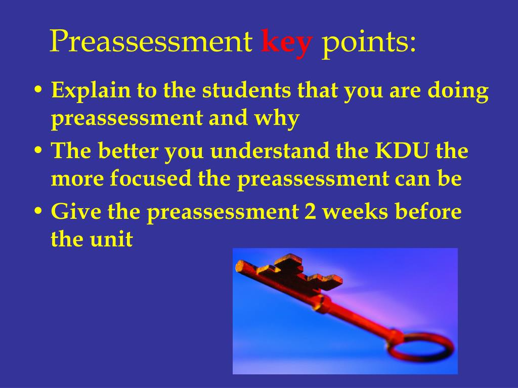 Preassessment
