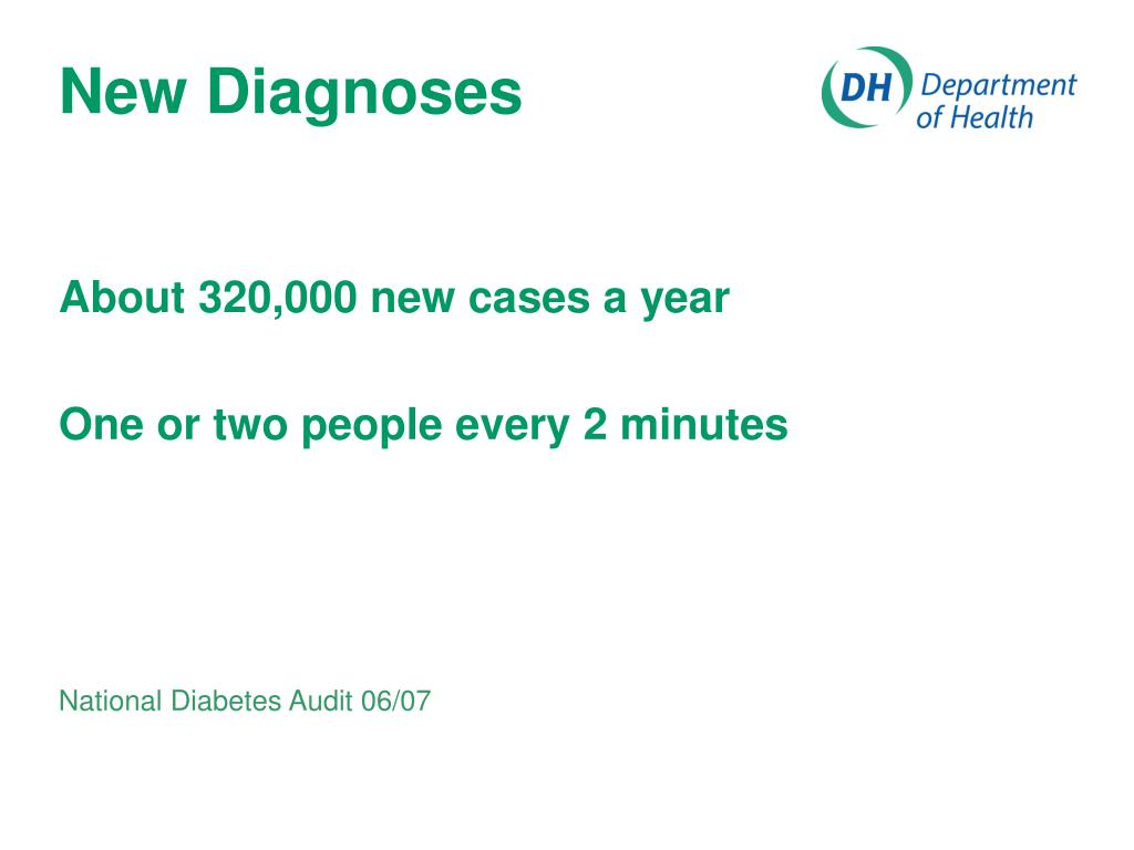 New Diagnoses