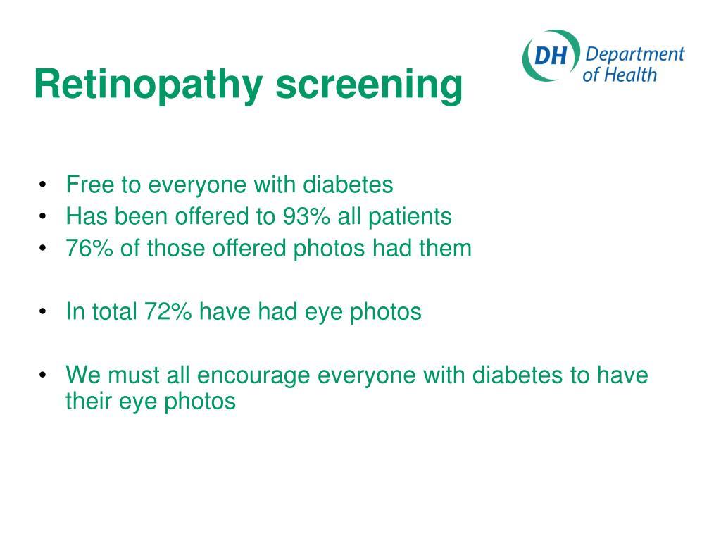 Retinopathy screening