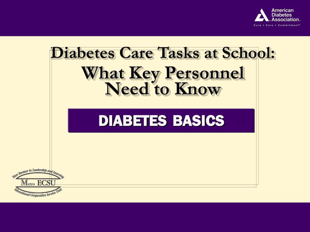 Diabetes Care Tasks at School: